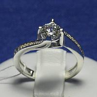 Серебряное кольцо с цирконом на помолвку Виктория 4759-р