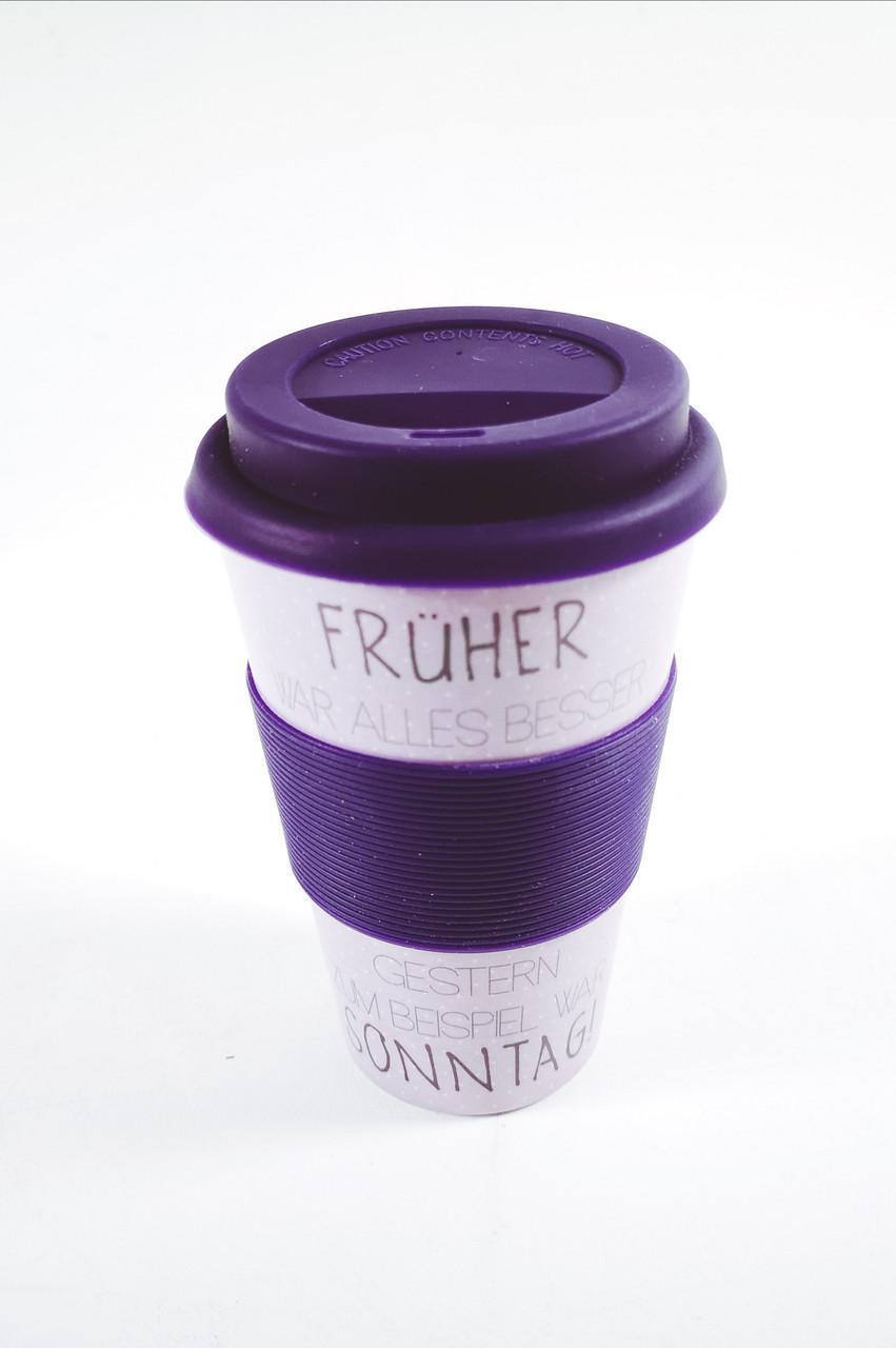 Кофейная кружка to go becher 350ml bambus Fruher