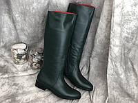Кожаные женские сапоги очень удобные Alexander 863 зел размеры 36,37,38,39,40,41, фото 1