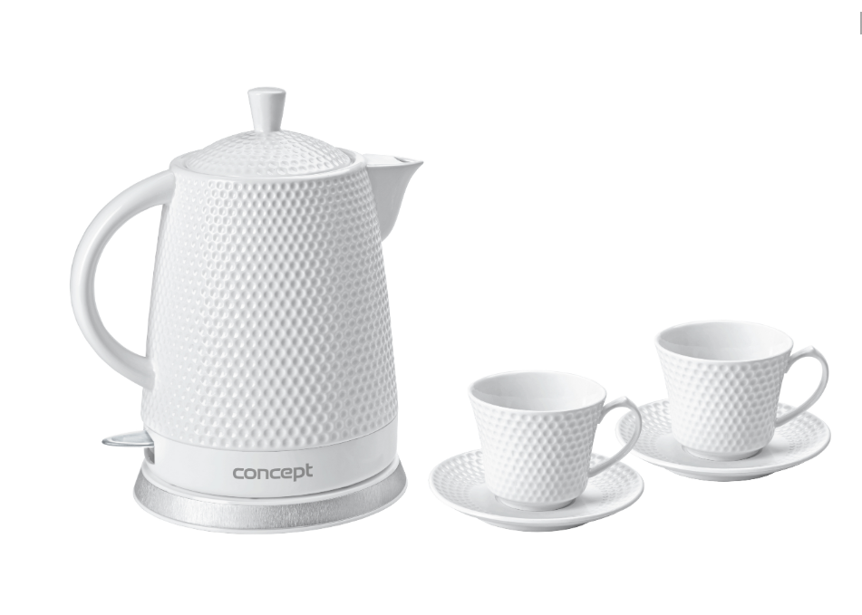 Керамический электрочайник чайник Concept RK-0040 с двумя чашками