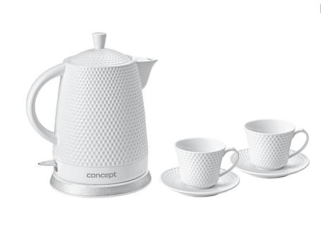 Керамический электрочайник чайник Concept RK-0040 с двумя чашками, фото 2