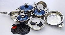 Набор кастрюль Eisenbach нержавеющая сталь 18/10, 16 элементов, фото 2