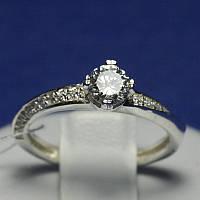 Помолвочное кольцо из серебра с камнями Тиса 4007-р
