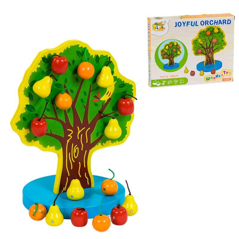 Деревянная игра на магните Дерево с фруктами С 39408