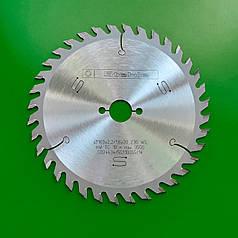 160х2,2х1,6х20 z=36 Універсальний пильний диск по дереву для поздовжнього і поперечного пиляння