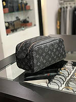 Косметичка Louis Vuitton серый монограмм|Несессер мужской женский Луи Виттон монограмм