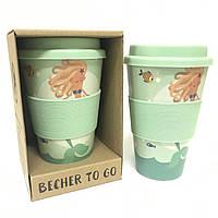 Кофейная кружка Русалочка ToGoBecher 350ml Bambus MERMAID, фото 1