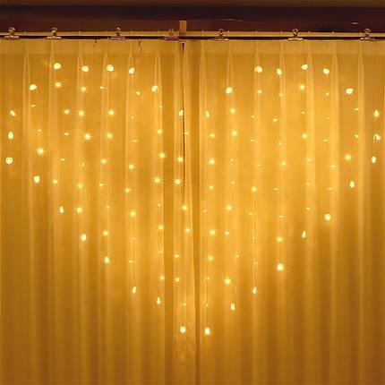 Светодиодная гирлянда LTL 138 led 8 режимов 220v  в виде сердца для свадьб и украшения спальни теплый свет, фото 2