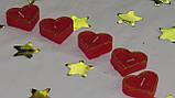 Набор 5 шт свечей в виде сердца красные, фото 2