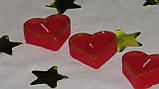 Набор 5 шт свечей в виде сердца красные, фото 4