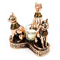 Статуэтка-подсвечник Три кошки