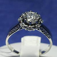 Кольцо из черненого серебра с цирконием 1025