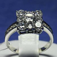 Серебряное кольцо с ювелирными вставками фианита 1028