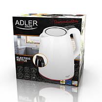 Электрочайник Adler AD 1277 белый пластиковый 1,7 л, фото 2