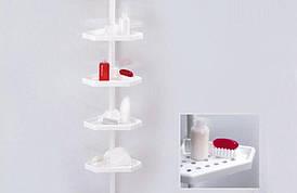 Полиця кутова у ванну кімнату телескопічна бежева