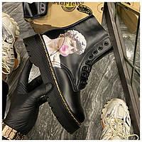Женские ботинки Dr. Martens Jadon Art Black, ботинки мартинс, жіночі черевики Dr Martens 1460, ботінки мартінс
