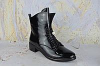 Лаковые ботинки женские на низком ходу BROCOLY