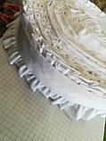 Резинка с рюш (белая) 25 м , фото 2