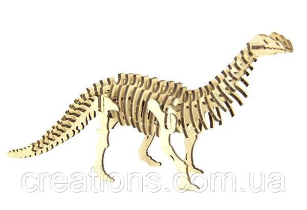"""Конструктор пазлы из дерева """"динозавр Бронтозавр"""" развивающая игрушка для детей и взрослых"""