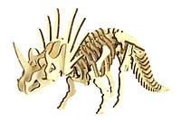 """Конструктор пазлы из дерева """"динозавр Трицератопс"""" 3D пазлы, развивающая игрушка для детей и взрослых"""