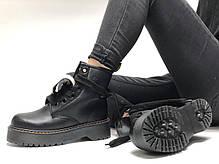 Женские ботинки Dr.Martens  JADON MOLLY кожа, ЗИМА черные. ТОП Реплика ААА класса., фото 3