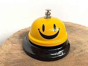 Настольный звонок смайлик, Звонок для официанта, гостиницы, офиса, дома., фото 2