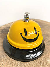 Настольный звонок смайлик, Звонок для официанта, гостиницы, офиса, дома., фото 3