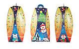 "Картонная Новогодняя упаковка ""Фонарик Снеговик"" синяя 700-800 гр., фото 2"