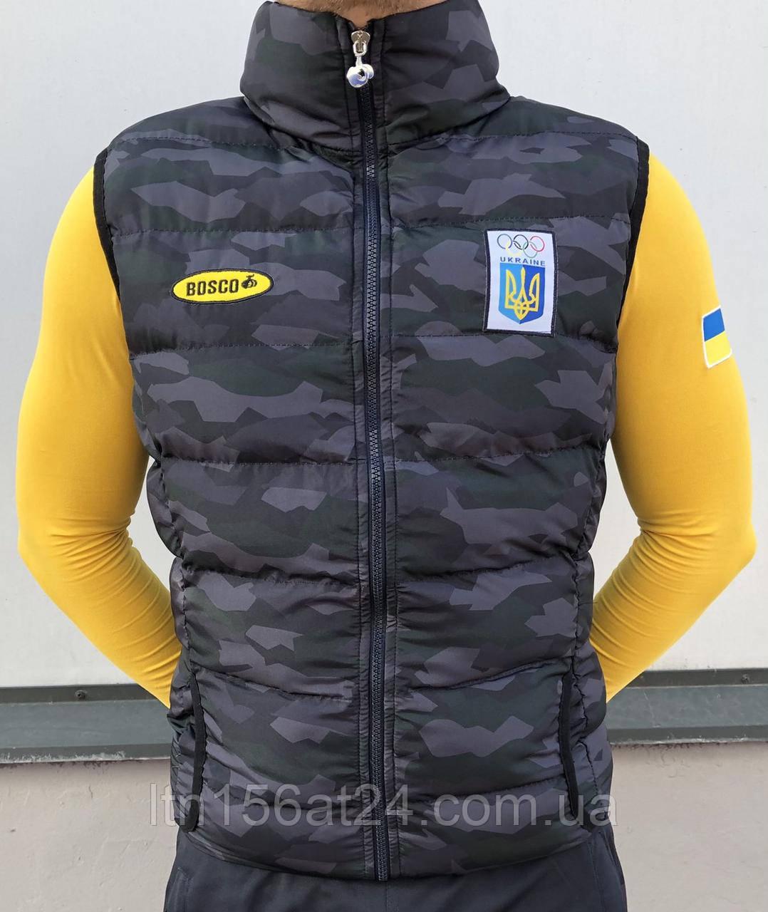 Жилетки Bosco Sport Україна. Камуфляж. Колекція 2021