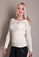 Женский свитер маст хэв, 42-46, молоко