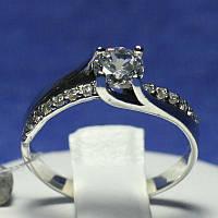 Серебряное кольцо на помолвку с цирконием 1039, фото 1