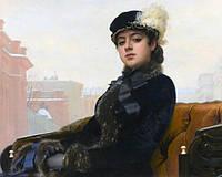 Картина рисование по номерам Чарівний діамант Портрет неизвестной РКДИ-0232 40х50см набор для росписи, краски,, фото 1