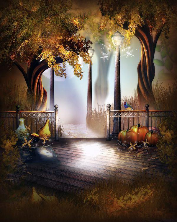 Картина рисование по номерам Чарівний діамант Волшебная ночь осени РКДИ-0159 40х50см набор для росписи,