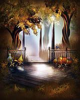 Картина рисование по номерам Чарівний діамант Волшебная ночь осени РКДИ-0159 40х50см набор для росписи,, фото 1