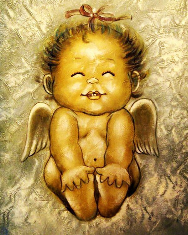 Картина рисование по номерам Чарівний діамант Милый Ангелочек РКДИ-0121 40х50см набор для росписи, краски,