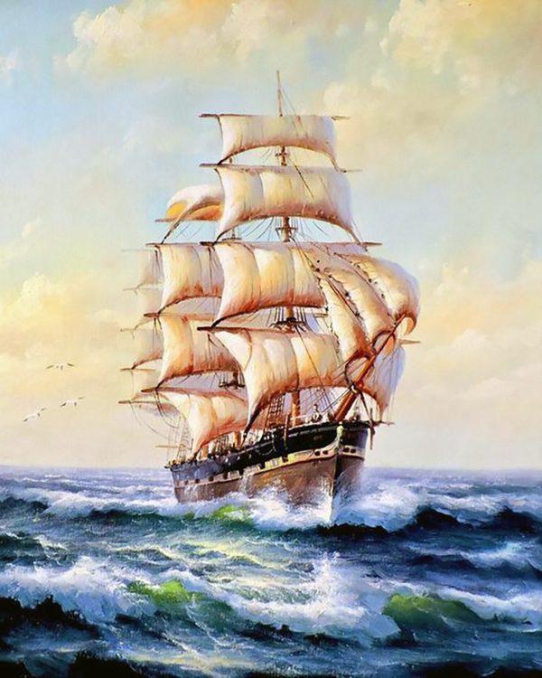 Картина рисование по номерам Чарівний діамант На всех парусах! РКДИ-0133 40х50см набор для росписи, краски,