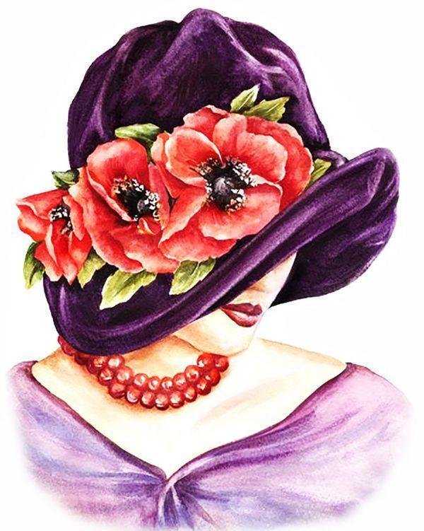 Картина рисование по номерам Чарівний діамант Цвет коралла РКДИ-0003 40х50см набор для росписи, краски, кисти,