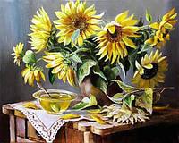 Картина рисование по номерам Чарівний діамант Солнечный дом РКДИ-0008 40х50см набор для росписи, краски,, фото 1
