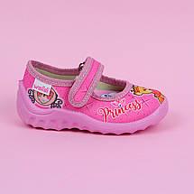360-026 Текстильные туфли тапочки Катя розовые тм Waldi размер 22,23,25, фото 3