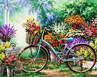 Картина рисование по номерам Чарівний діамант Весенние цветы РКДИ-0076 40х50см набор для росписи, краски,, фото 1
