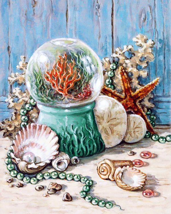 Картина рисование по номерам Чарівний діамант Дары океана РКДИ-0105 40х50см набор для росписи, краски, кисти,