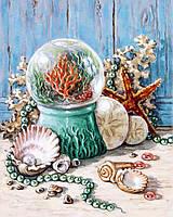 Картина рисование по номерам Чарівний діамант Дары океана РКДИ-0105 40х50см набор для росписи, краски, кисти,, фото 1