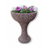 """Вазон для квітів """"Глорія"""" фактура № 022, фото 1"""