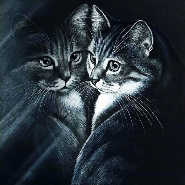 Картина рисование по номерам Чарівний діамант Отражение РКДИ-0239 40х40см набор для росписи, краски, кисти,
