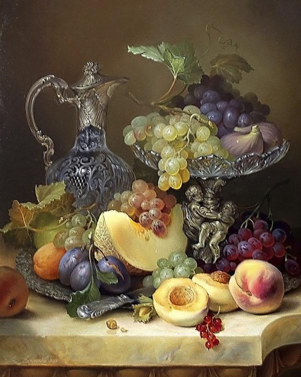 Картина рисование по номерам Чарівний діамант Щедрый натюрморт РКДИ-0256 40х50см набор для росписи, краски,