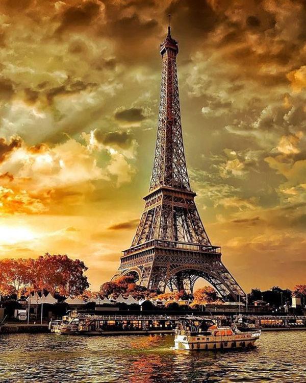 Картина рисование по номерам Чарівний діамант Осенний Париж РКДИ-0277 40х50см набор для росписи, краски,