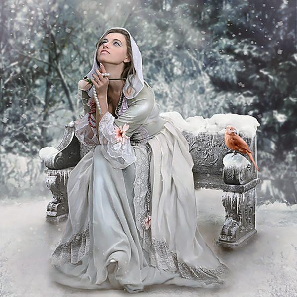 Картина рисование по номерам Чарівний діамант Мольба РКДИ-0143 40х40см набор для росписи, краски, кисти, холст
