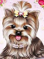 Картина рисование по номерам Чарівний діамант Любимый Йорк РКДИ-0093 30х40см набор для росписи, краски, кисти,, фото 1