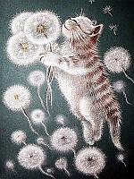 Картина рисование по номерам Чарівний діамант Пухнастики РКДИ-0091 30х40см набор для росписи, краски, кисти,, фото 1