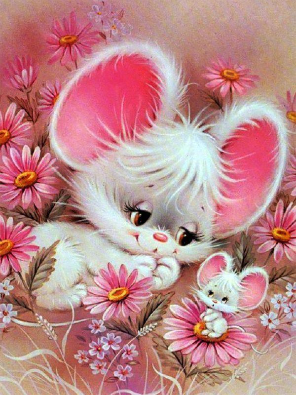 Картина рисование по номерам Чарівний діамант Милые мышата РКДИ-0088 30х40см набор для росписи, краски, кисти,
